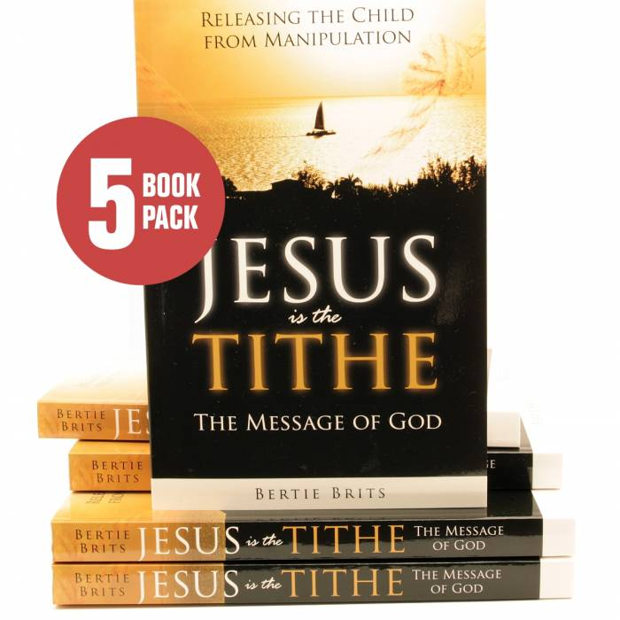 Buy Dynamic Love Ministries Items: [ Jesus is the Tithe ( 5 pack ) ]
